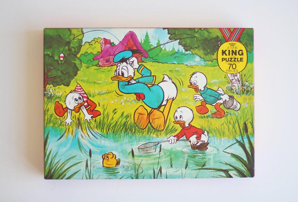 VINTAGE DISNEY DONALD DUCK JIG-SAW PUZZLE FOR KIDS 70 PIECES