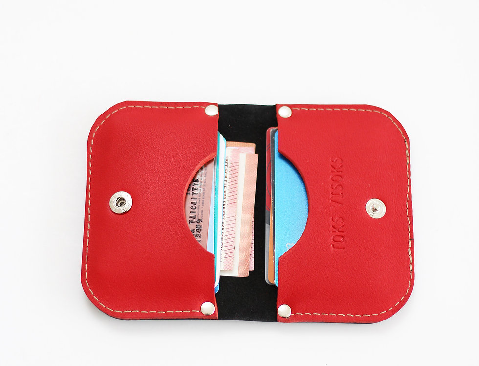 SUNDAY WALLET IN BLACK AND RED