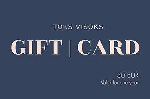 Toks Visoks gift card 30€