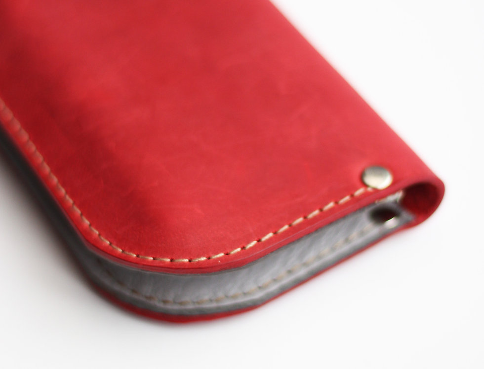 SUNDAY WALLET IN RED AND GREY