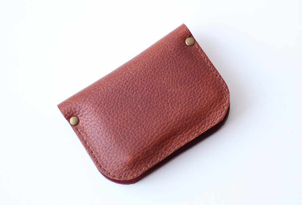 SUNDAY WALLET IN TEXTURE BROWN