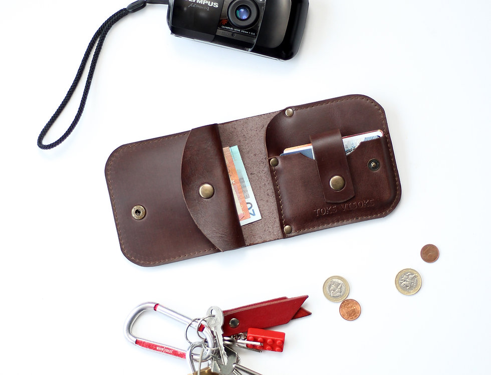 THURSDAY LEATHER WALLET FOR MEN IN CHOCOLADE BROWN