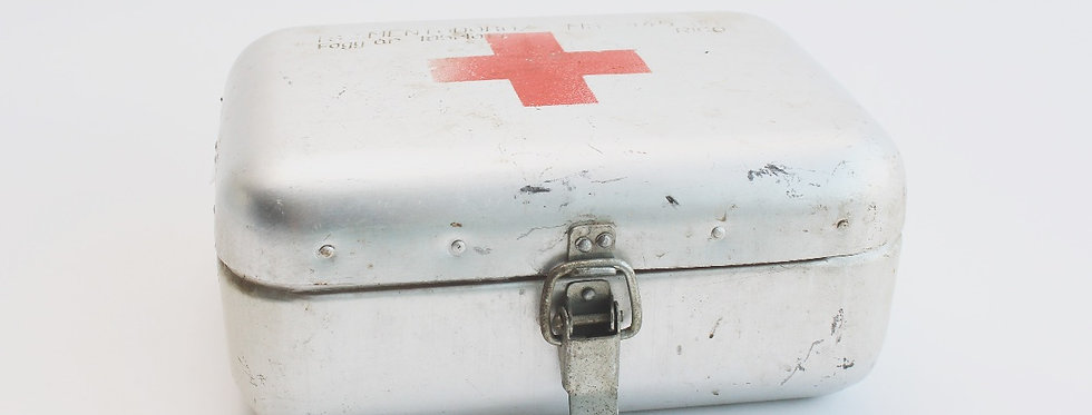 Vintage first aid kit from the 1950's Hungary new