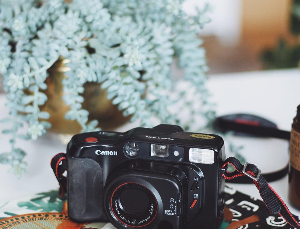Vintage Canon Top Twin Sure Shot Autoboy camera