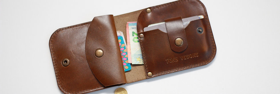 THURSDAY LEATHER WALLET FOR MEN IN SHINY BROWN