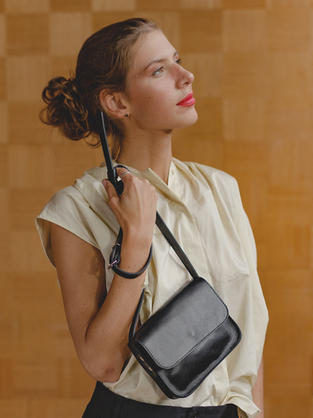 Ruby purse in black leather