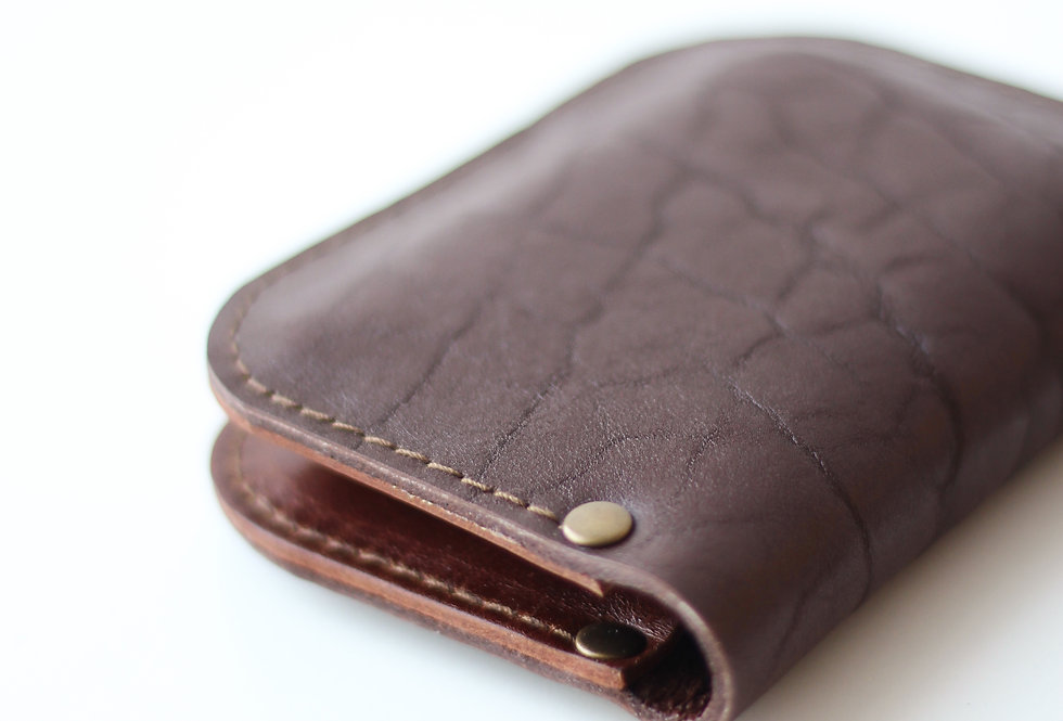 SUNDAY WALLET IN CHOCOLATE