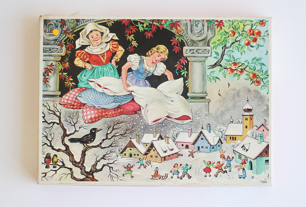 VINTAGE WOODEN JIG-SAW PUZZLE WITH A FAIRY TALE IMAGE