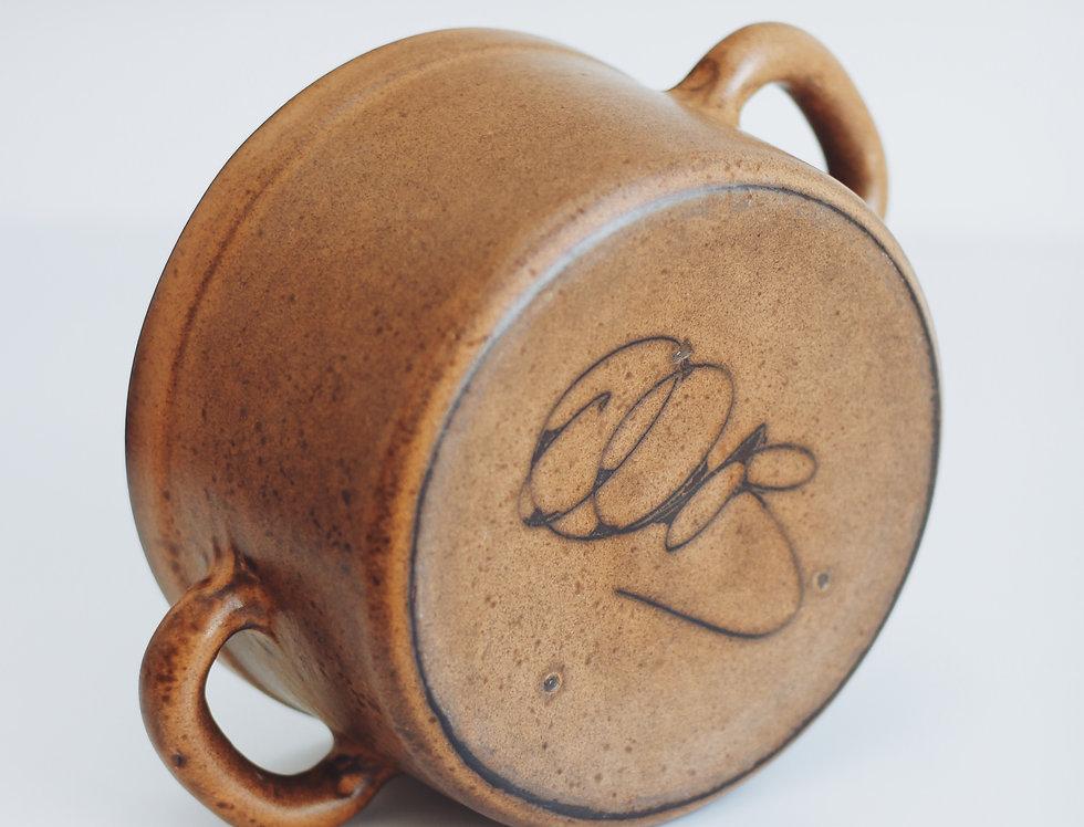 Vintage ceramic salad bowl