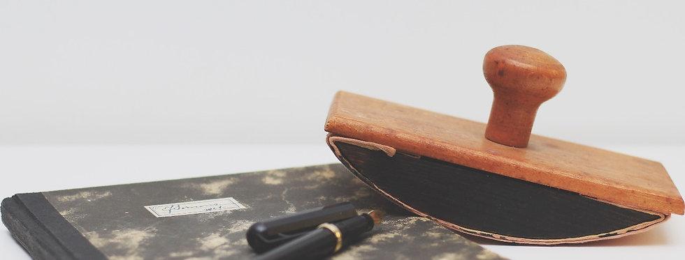 Vintage wooden rocking ink dryer