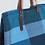 Thumbnail: VARIETY OF BLUE CANVAS BEACH BAG