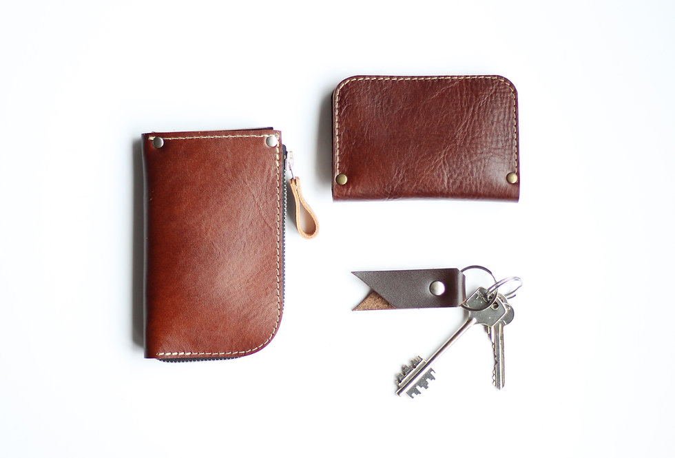 SUNDAY WALLET IN VEGETABLE TANNED BROWN LEATHER