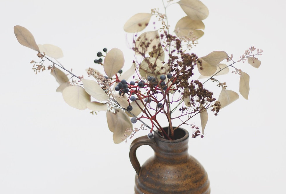 Vintage ceramic pitcher vase from the 70s