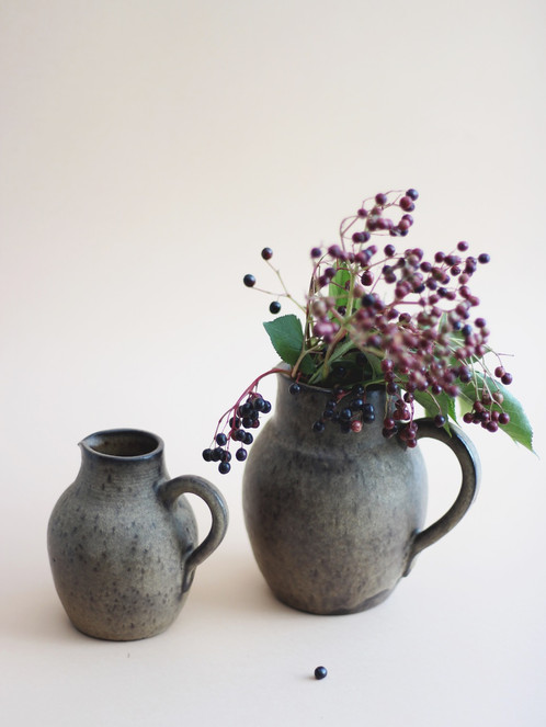 Vintage Ceramic Jug Vase From The 70s Set Of Two