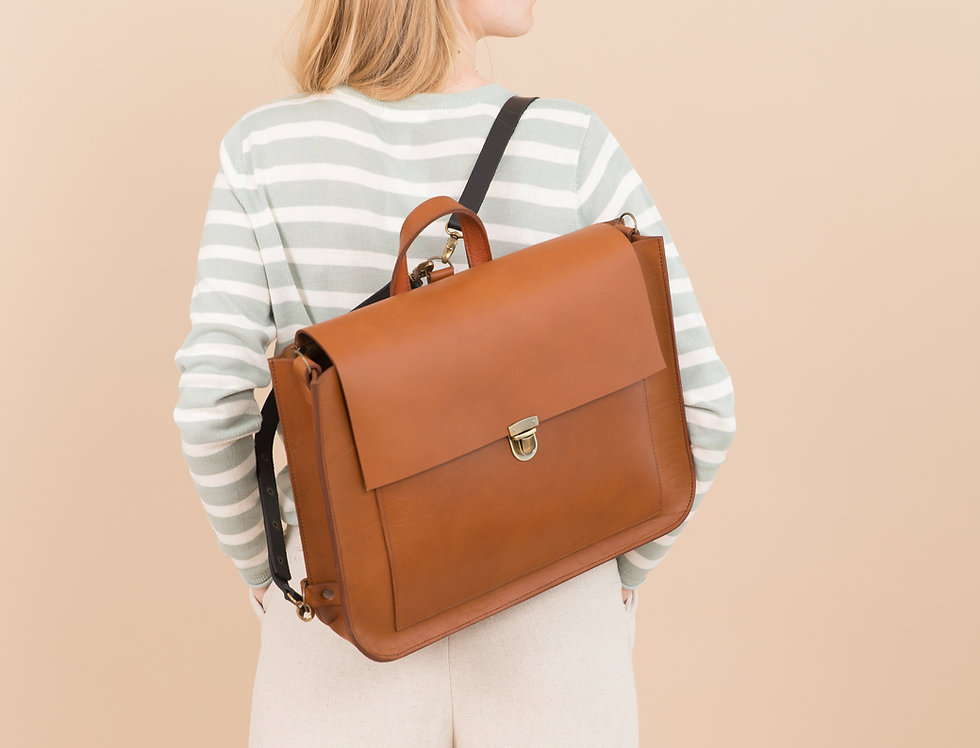 Madison backpack in ginger