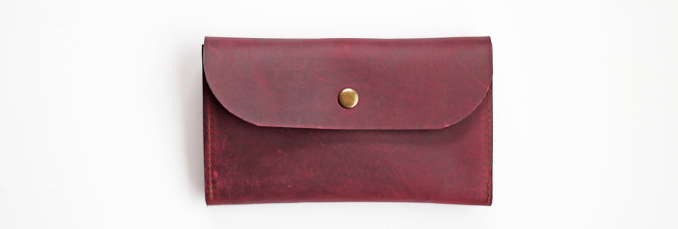 TUESDAY WALLET IN RED WINE