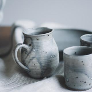 Vintage ceramic table set of 4