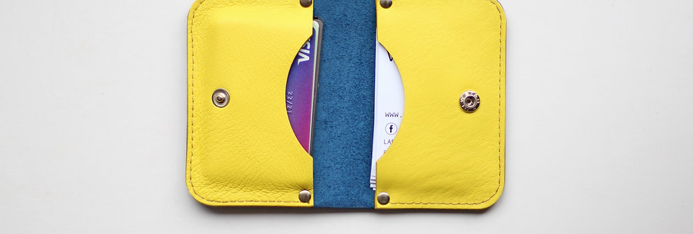 SUNDAY WALLET IN BLUE AND YELLOW