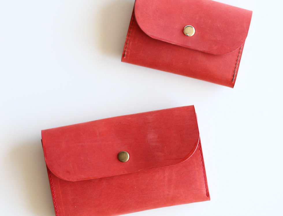 TUESDAY WALLET IN RED