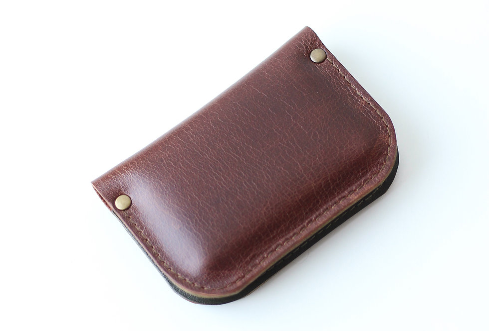 SUNDAY WALLET IN GINGER AND ARMY GREEN (defect)