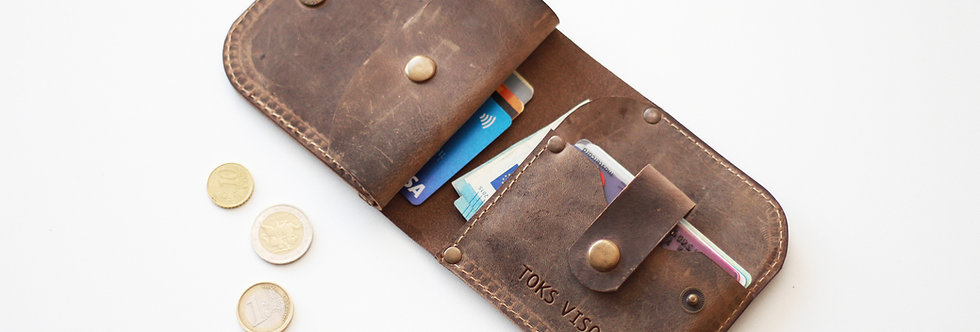THURSDAY LEATHER WALLET FOR MEN IN CAPPUCCINO