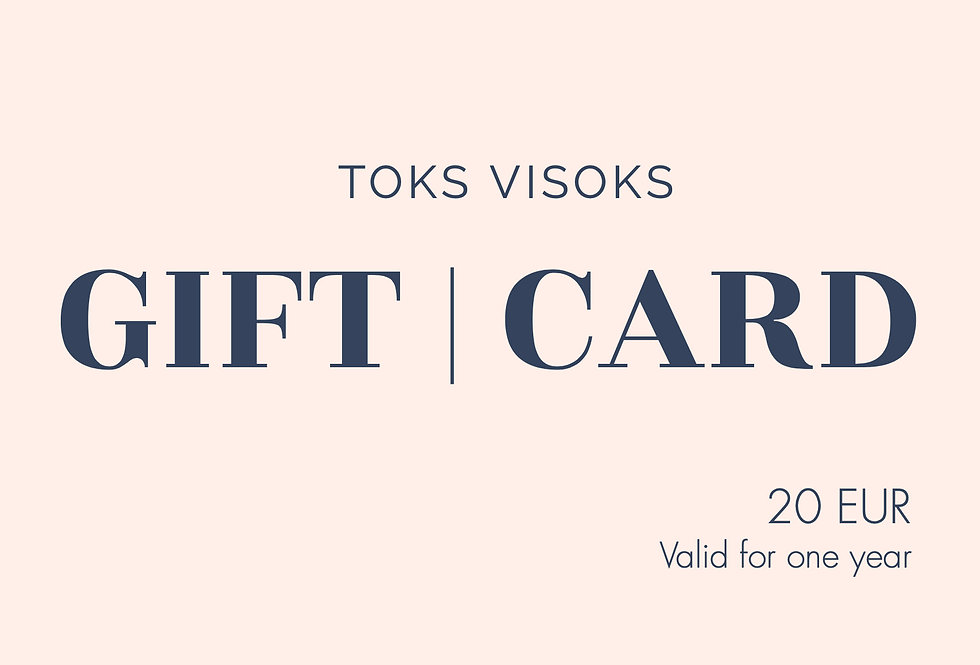 Toks Visoks gift card 20€
