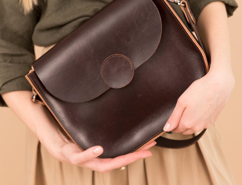 Fiona handbag in glazed chocolate