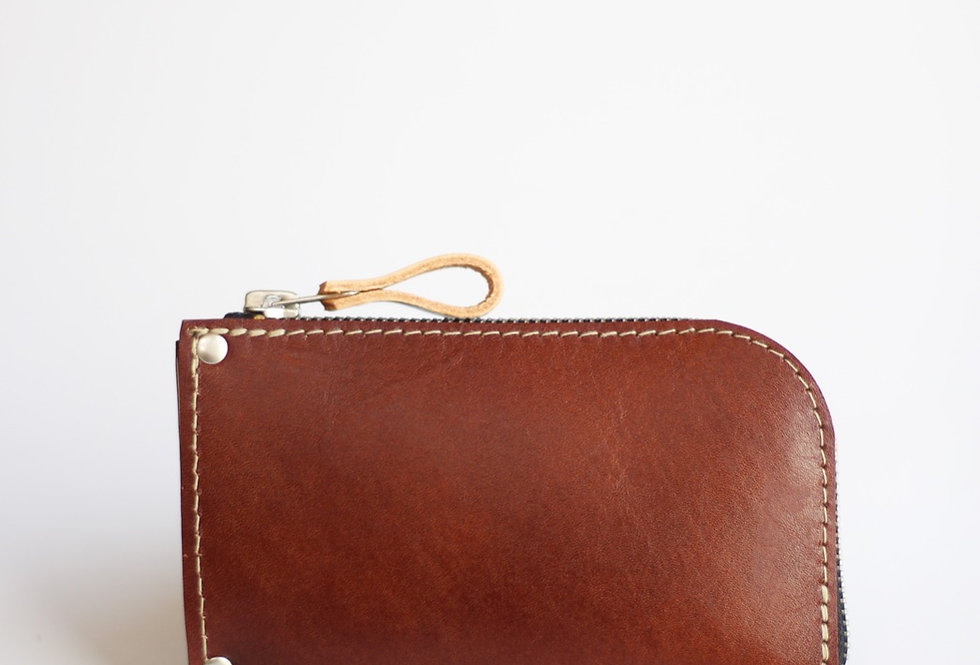 WEDNESDAY WALLET IN VEGETABLE TANNED BROWN LEATHER