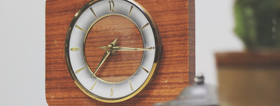 Vintage Electric Wooden Clock