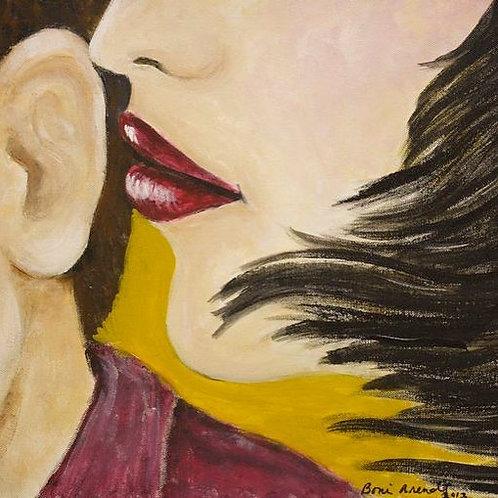 """""""The Secret""""      Acrylic on deep wall canvas, 16"""" x 20"""""""