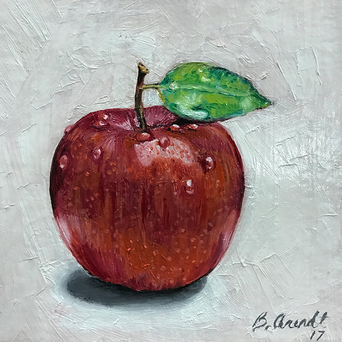 """Winesap"", 6"" x 6"" oil on canvas"