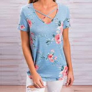 V-Neck Summer T Shirt