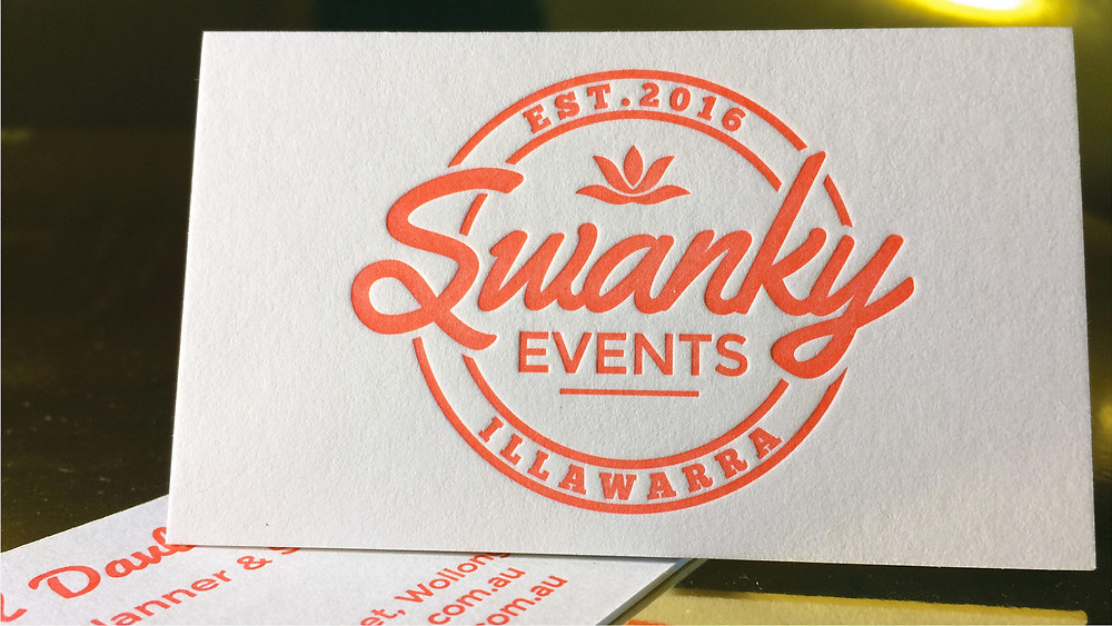 Swanky letterpress business card
