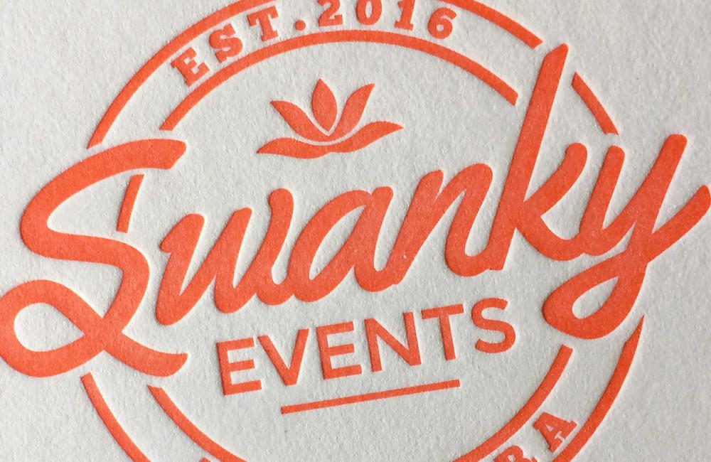 Swanky vintage logo