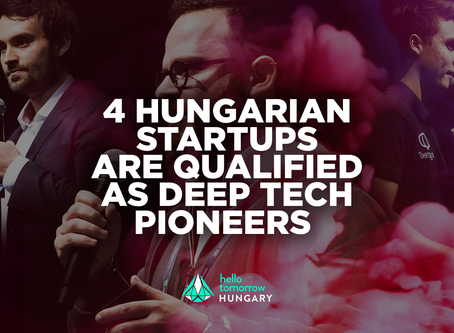 Four Hungarian startups are qualified as Deep Tech Pioneers