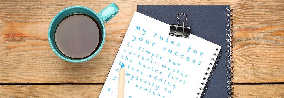 German methods note pad,  Methods of my German lessons in London, German lessons online, German lessons Skype, German tuition Skype, German tuition online, German classes Skype, German courses online