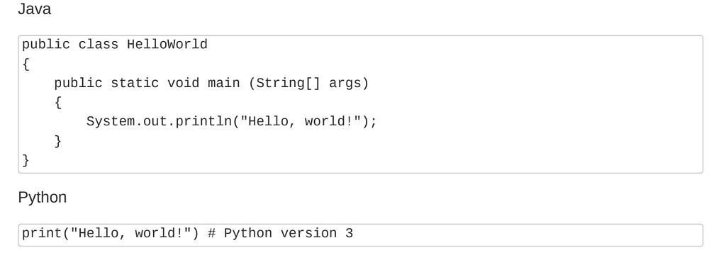 Diferencia al programar con lenguaje Python y Java