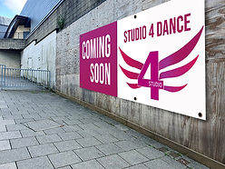 Studio 4 Coming soon sign
