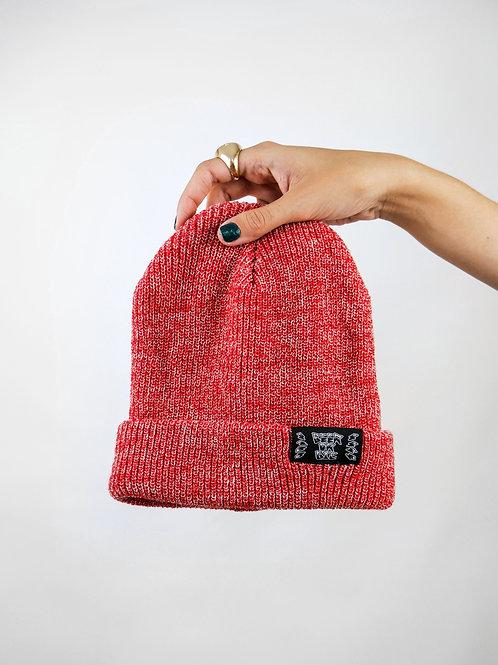 red heather beanie