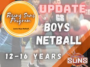 Incredible interest in Rising Suns Program (Junior Boys Netball)