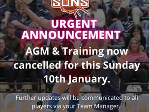 AGM & TRAINING CANCELLED 10 JAN DUE TO LOCK DOWN