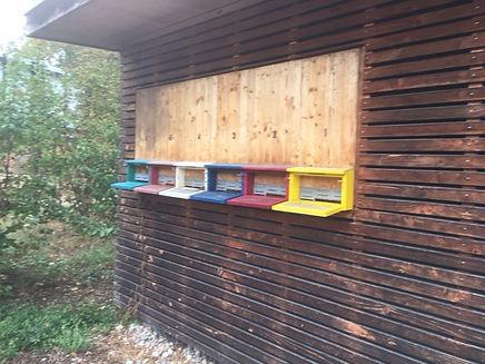 ruches au parc de la ville de Bâle