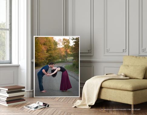 couple-engagement-fall-foliage-wall-art-Amanda-Starr