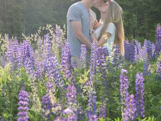 Engagement Session On Top Of Jay Peak