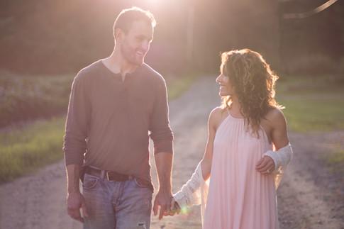 couple-sunset-golden-hour-dirt-road-walking
