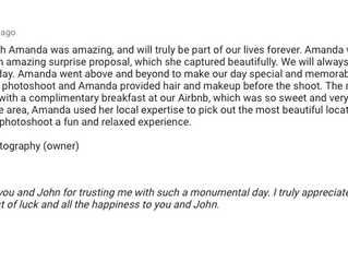 5 Star Reviews for Special Portrait Sessions