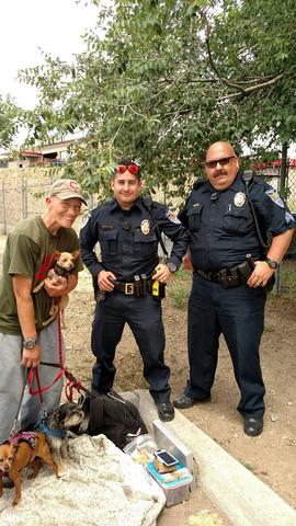 Jen in santa fe with 2 cops.jpg