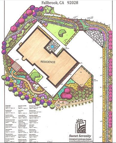 Sweet Serenity Conceptual Landscape Designs Fallbrook