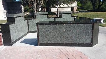 outdoor granite niches