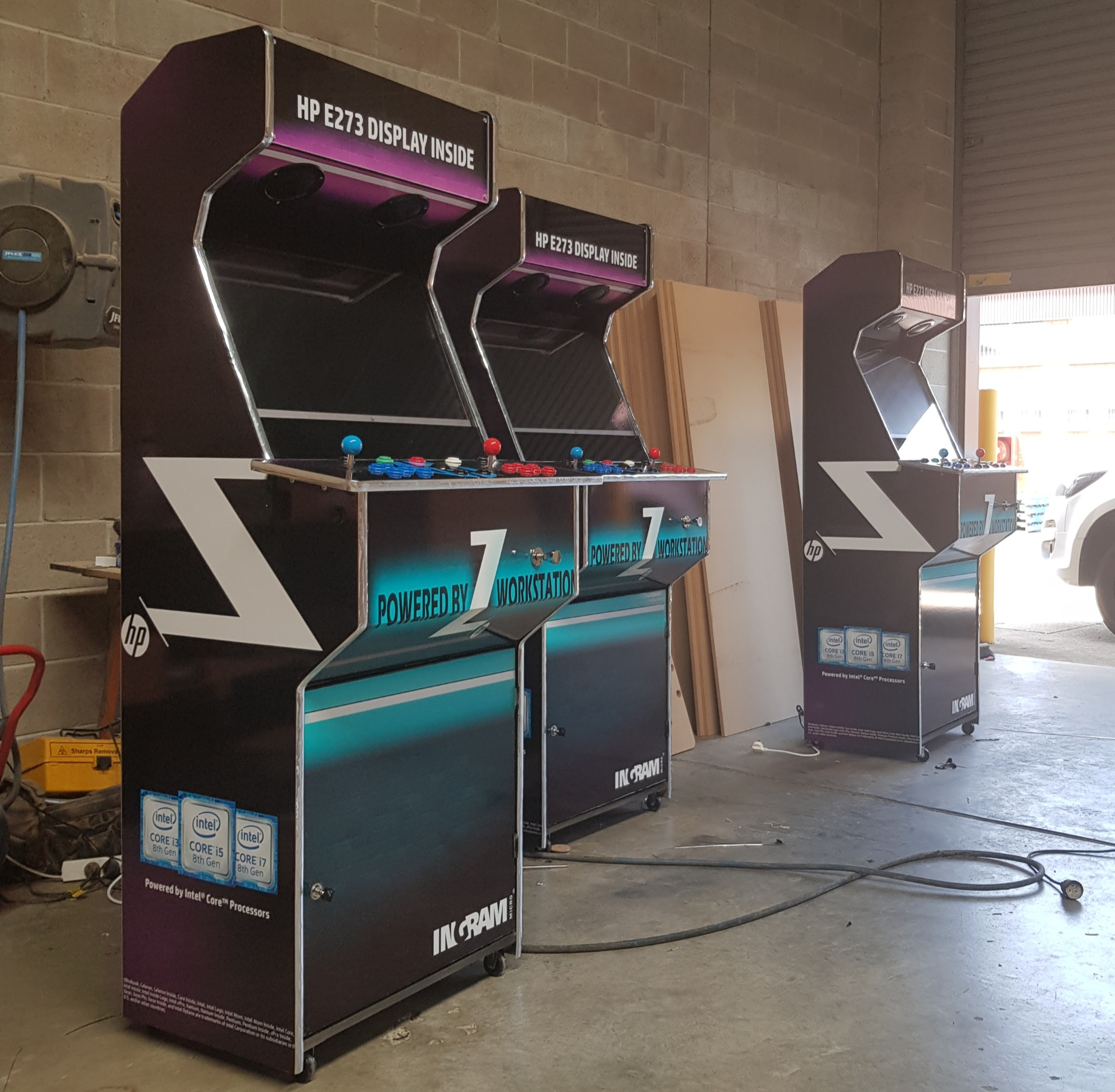 Promotional arcade machines